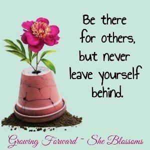 """Meme text """"Be there for others, but never leave yourself behind"""" when you sense your husband may have stopped loving you."""