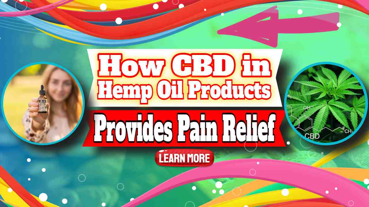 """Image text: """"CBD in Hemp Oil Products""""."""