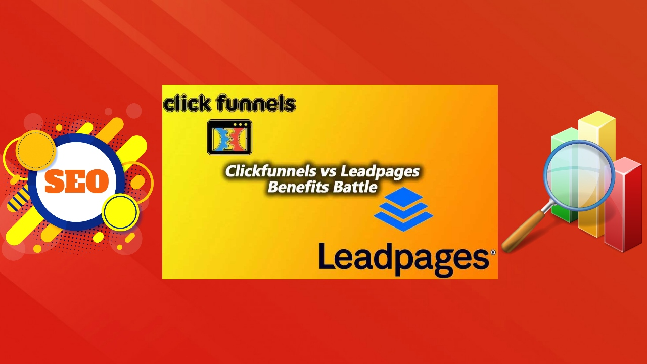 """Image text: """"Clickfunnels vs Leadpages Review Battle""""."""